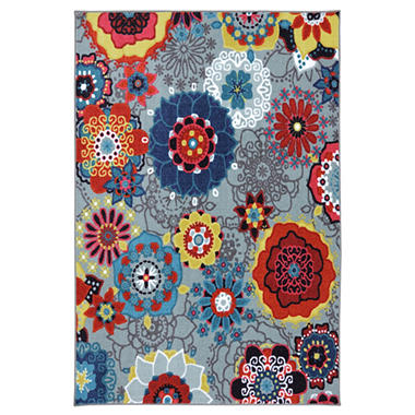 Funky Floral Area Rug