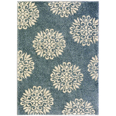 Exploded Medallions Bay Blue Rug   90221 55002 5X7