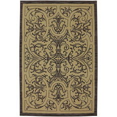 American Rug Craftsman Symphony Collection - Traite Du Jardinage Walnut