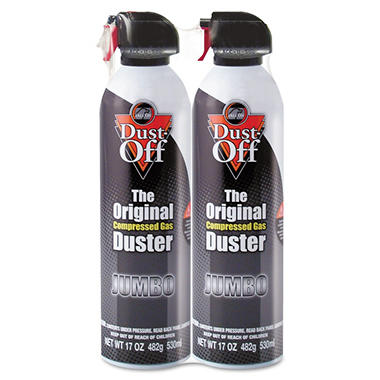 Dust-Off Jumbo Disposable Dusters - 17 oz. - 2 pk.