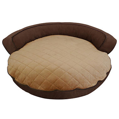 Canine Creations Bolster Pet Bed - Chocolate