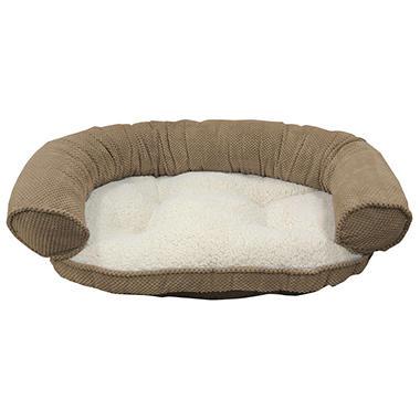 Butler Paisley Recliner Bolster Pet Bed - Bamboo