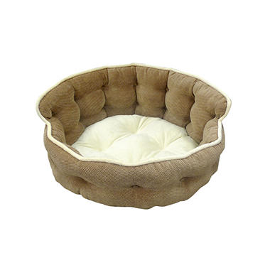Hamilton Recliner Bolster Pet Bed - Driftwood
