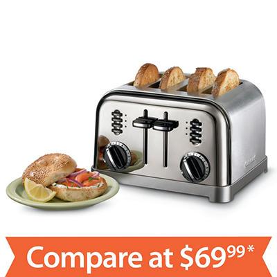 Cuisinart 2-Slice/4-Slice Metal Toaster