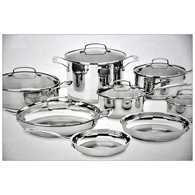 Cuisinart 14-Piece Classic Stainless Cookware Set