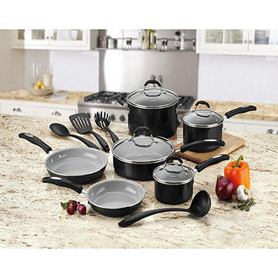 Cuisinart 14-Piece Ceramic Cookware Set