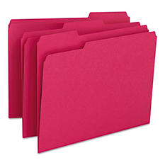 Smead 1/3 Cut Assorted Positions File Folders, Letter, 100ct., Select Color