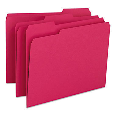 Smead - Red File Folders, 1/3 Tab - 100 Pack