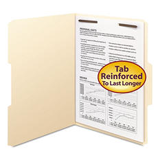 Smead 1/3 Cut Assorted Positions File Folders, One Fastener, Letter, Manila, 50ct.