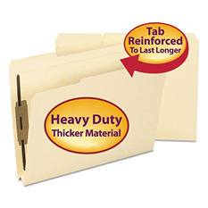 "Smead 1/3 Tab 1 1/2"" Two Fastener Expansion Folders, Manila (Letter, 50 ct.)"