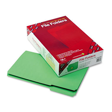 Smead - File Folders, 1/3 Reinforced Tab, 100 Pack - Various Colors