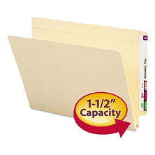 Smead 1 1/2 Inch Expansion Folders, Straight End Tab, Letter, Manila, 50ct.