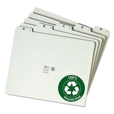 Smead Green Pressboard A-Z Self Tab File Guide