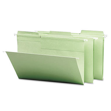 Smead - FasTab Hanging File Folders, 1/3 Tab, Legal, Moss Green - 20 ct.