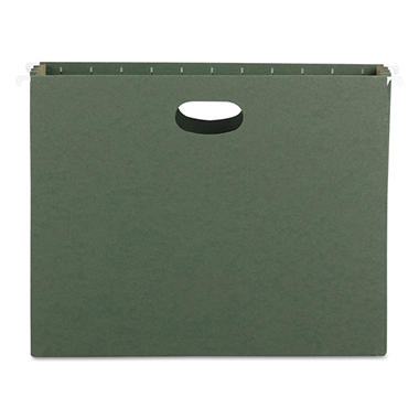 "Smead 2 1/2"" Hanging File Pockets with Sides, Standard Green (Letter, 10 ct.)"