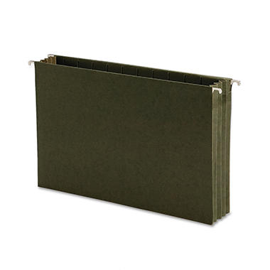 Smead - Hanging Pocket File Folders with Full Height Gusset, Legal, Green - 10 ct.