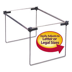 "Smead Steel Hanging Folder Frame for Drawers, Letter/Legal Size, 12-24"" Long, 2ct."