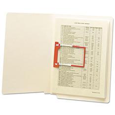 Smead U-Clip Bonded File Fasteners, Two Inch Capacity, Orange and White -  100/Box