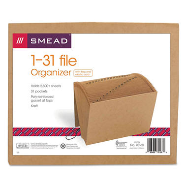 Smead 31 Indexed Expanding File, Letter, Kraft