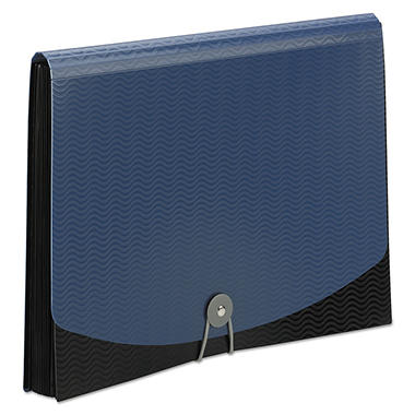 Smead 12-Pocket Poly Exanding File, Black/Blue