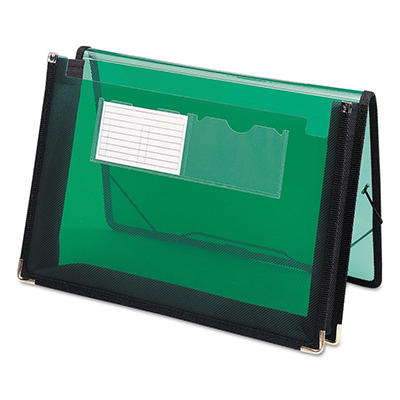 "Smead 2 1/4"" Poly Accordion Expansion Wallet, Translucent Green (Letter)"