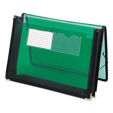 "Smead 2 1/4"" Poly Expansion Wallet, Letter, Translucent Green"