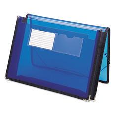 "Smead 2"" Poly Expansion Ultracolor Wallet, Letter, Translucent Blue"