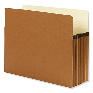 "Smead 5 1/4"" Straight Tab Accordion Expansion File Pocket, Redrope (Letter, 10 ct.)"