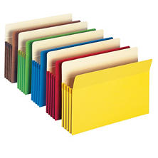 "Smead 3 1/2"" Accordion Expansion File Pocket, Straight Tab, Letter, Assorted Colors, 10ct."
