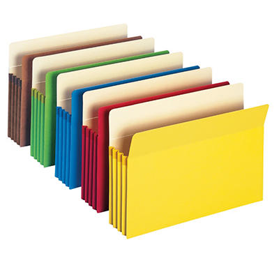 Smead Expansion File Pocket, Assorted Colors (10 ct.)