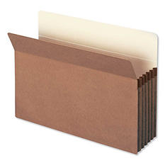"Smead 5 1/4"" Straight Tab Accordion Expansion File Pocket, Redrope (Legal, 10 ct.)"