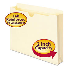 "Smead 2"" Expansion File Jackets, Letter, Manila, 50ct."