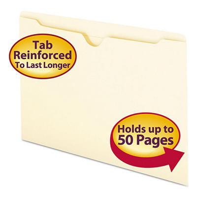 Smead Double-Ply File Jackets, Manila (Legal, 100 ct.)