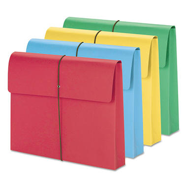 "Smead - 2"" Accordion Expansion Wallet, Elastic Cord, Letter, Assorted Colors - 50 ct."