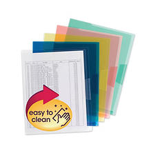 Smead Organized Up Poly Project Jackets, Letter, Assorted Colors, 5ct.