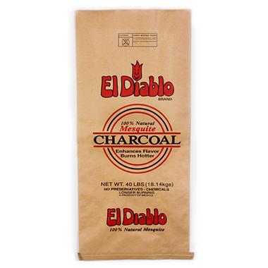 El Diablo 100% Mesquite Lump Charcoal - 40 lbs.