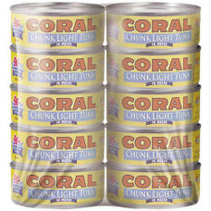 Coral Chunk Light Tuna in Water - 10/5oz