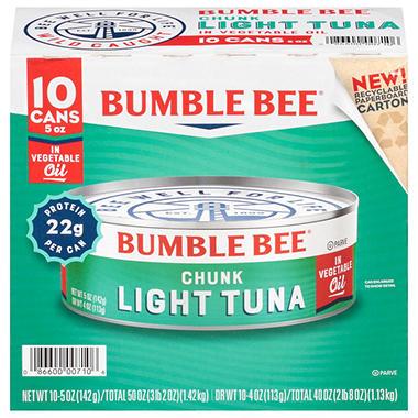 Bumble Bee Chunk Light Tuna in Oil - 5 oz. - 10 ct.
