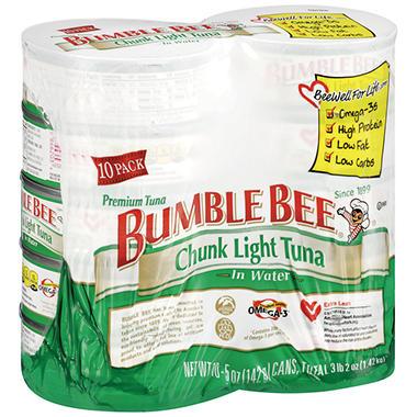 Bumble Bee Chunk Light Tuna in Water - 5 oz. - 10 pk.