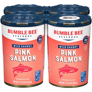 Bumble Bee® Pink Salmon - 14.75 oz. - 4 ct