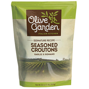 Olive Garden Garlic & Romano Seasoned Croutons - 32 oz.