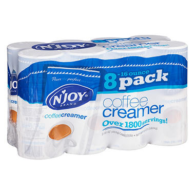 N'JOY - Non-Dairy Powdered Creamer Canisters, 16 oz - 8 Count