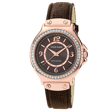 Anne Klein Ladies Leather Strap Watch