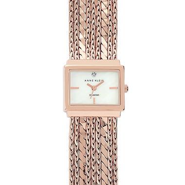 Anne Klein Rose Gold Strand Watch