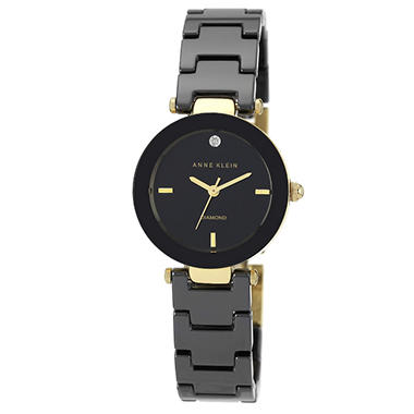 Anne Klein Black Ceramic Ladies Watch