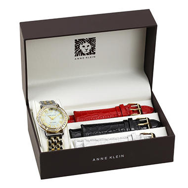 Anne Klein Ladies Watch Box Set