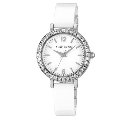 Anne Klein White Ceramic Bangle Watch