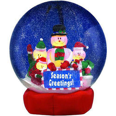 8' Inflatable Snow Globe Snowman Family