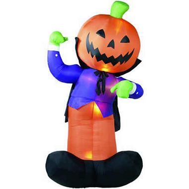 12 5 airblown inflatable pumpkin man sam s club