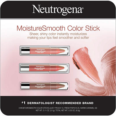 Neutrogena MoistureSmooth Color Stick Bright Berry or Juicy Peach